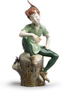 Figura y muñeco de Peter Pan de Porcelana de Lladró - Figuras coleccionables, juguetes y muñecos de Peter Pan - Muñecos de Disney
