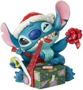 Figura y muñeco de Stitch Navidad de Enesco de Disney Traditions - Figuras coleccionables, juguetes y muñecos de Lilo y Stich - Muñecos de Disney