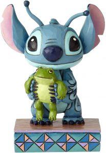 Figura y muñeco de Stitch con rana de Enesco de Disney Traditions - Figuras coleccionables, juguetes y muñecos de Lilo y Stich - Muñecos de Disney