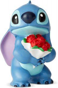 Figura y muñeco de Stitch con rosas de Enesco de Disney Showcase - Figuras coleccionables, juguetes y muñecos de Lilo y Stich - Muñecos de Disney