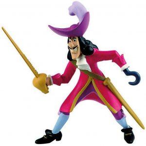 Figura y muñeco del Capitán Garfio de Bullyland - Figuras coleccionables, juguetes y muñecos de Peter Pan - Muñecos de Disney
