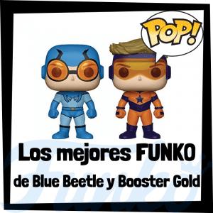 Figuras FUNKO POP de Blue Beetle y Booster Gold - Funko POP de Blue Beetle y Booster Gold