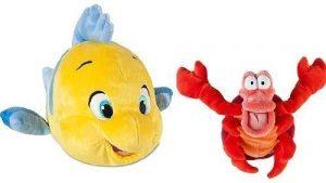 Peluche y muñeco de la Sirenita de Flounder y Sebastian - Peluches, juguetes y muñecos de la Sirenita - Muñecos de Disney