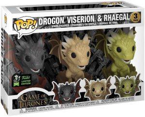 Figura FUNKO POP de Drogon, Rhaegal y Viserion Crías de Juego de Tronos - Muñecos de Juego de Tronos de dragones