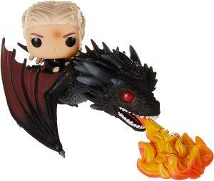 Figura FUNKO POP de Drogon con Daenerys de Juego de Tronos - Muñecos de Juego de Tronos de dragón Drogon