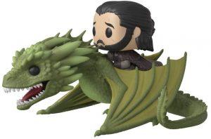 Figura FUNKO POP de Rhaegal y Jon Nieve de Juego de Tronos - Muñecos de Juego de Tronos de dragón Rhaegal