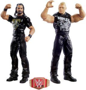 Figura de Brock Lesnar de Mattel y Seth Rollins - Muñecos de Brock Lesnar - Figuras coleccionables de luchadores de WWE