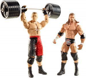 Figura de Brock Lesnar de Mattel y Triple H - Muñecos de Brock Lesnar - Figuras coleccionables de luchadores de WWE