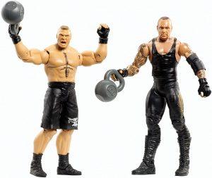 Figura de Brock Lesnar de Mattel y el Enterrador 2 - Muñecos de Brock Lesnar - Figuras coleccionables de luchadores de WWE