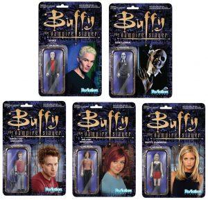Figura de Buffy, Willow, Oz, Spike, Gentleman de Buffy Cazavampiros de ReAction - Muñecos de Buffy Cazavampiros - Figuras coleccionables de Buffy Cazavampiros