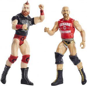 Figura de Cesaro y Sheamus de Mattel - Muñecos de Cesaro - Figuras coleccionables de luchadores de WWE
