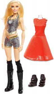 Figura de Charlotte Flair de Mattel Barbie - Muñecos de Charlotte Flair - Figuras coleccionables de luchadores de WWE