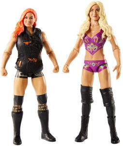 Figura de Charlotte Flair y Becky Lynch de Mattel - Muñecos de Charlotte Flair - Figuras coleccionables de luchadores de WWE