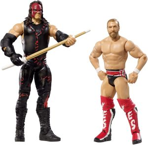 Figura de Daniel Bryan y Kane de Mattel 2 - Muñecos de Kane - Figuras coleccionables de luchadores de WWE