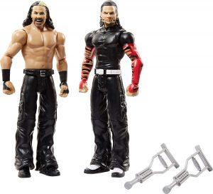 Figura de Matt Hardy y Jeff Hardy de Mattel 3 - Muñecos de los Hardy Boyz - Figuras coleccionables de luchadores de WWE