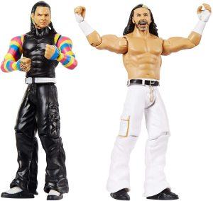 Figura de Matt Hardy y Jeff Hardy de Mattel - Muñecos de los Hardy Boyz - Figuras coleccionables de luchadores de WWE