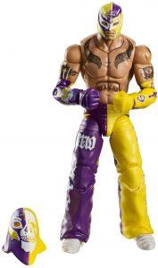 Figura de Rey Mysterio de Mattel 3 - Muñecos del Rey Mysterio - Figuras coleccionables de luchadores de WWE