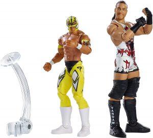Figura de Rey Mysterio de Mattel y Rob Van Dam - Muñecos del Rey Mysterio - Figuras coleccionables de luchadores de WWE