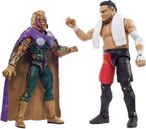 Figura de Rey Mysterio de Mattel y Samoa Joe - Muñecos del Rey Mysterio - Figuras coleccionables de luchadores de WWE