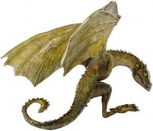 Figura de Rhaegal Cría de Juego de Tronos de The Noble Collection - Muñecos de Juego de tronos de Rhaegal - Figuras coleccionables de los Dragones de Juego de Tronos