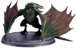 Figura de Rhaegal de Juego de Tronos de HBO - Muñecos de Juego de tronos de Rhaegal - Figuras coleccionables de los Dragones de Juego de Tronos