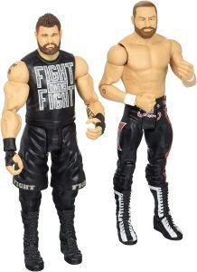 Figura de Sami Zayn y Kevin Owens de Mattel 2 - Muñecos de Kevin Owens - Figuras coleccionables de luchadores de WWE