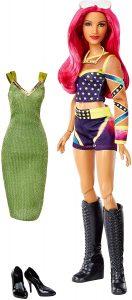 Figura de Sasha Banks de Mattel Barbie - Muñecos de Sasha Banks - Figuras coleccionables de luchadores de WWE