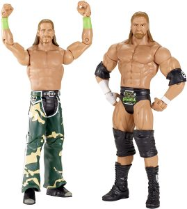 Figura de Shawn Michaels y HHH de Mattel - Muñecos de Shawn Michaels - Figuras coleccionables de luchadores de WWE