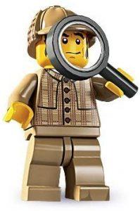 Figura de Sherlock Holmes de Lego - Muñecos de Sherlock - Figuras coleccionables de Sherlock Holmes