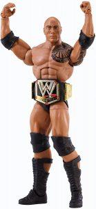 Figura de The Rock de cinturón de Mattel - Muñecos de The Rock - Figuras coleccionables de luchadores de WWE