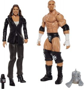 Figura de Triple H y Stephanie Mcmahon de Mattel - Muñecos de HHH - Figuras coleccionables de luchadores de WWE