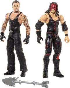 Figura de Undertaker y Kane de Mattel - Muñecos del Enterrador - Figuras coleccionables de luchadores de WWE