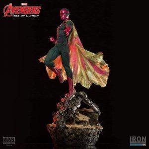 Figura de Vision de Iron Studios de la Era de Ultron - Figuras coleccionables de Visión - Muñecos de Visión de Marvel