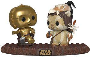 Figura FUNKO POP de Ewok y C-3PO - Figuras de acción y muñecos de los Ewoks