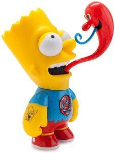 Figura de Bart Simpson de Kenny Scharf - Muñecos de Bart Simpson de los Simpsons - Figuras de acción de los Simpsons