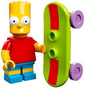 Figura de Bart Simpson de LEGO 2 - Muñecos de Bart Simpson de los Simpsons - Figuras de acción de los Simpsons