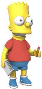 Figura de Bart Simpson de Neca - Muñecos de Bart Simpson de los Simpsons - Figuras de acción de los Simpsons