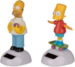 Figura de Bart Simpson y Homer Simpson de solar - Muñecos de Bart Simpson de los Simpsons - Figuras de acción de los Simpsons