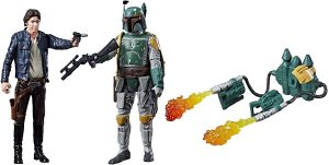Figura de Boba Fett de Star Wars de Hasbro y Han Solo - Figuras de acción y muñecos de Boba Fett de Star Wars