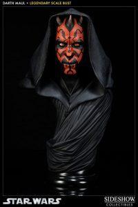 Figura de Busto de Darth Maul de Star Wars de Sideshow - Figuras de acción y muñecos de Darth Maul de Star Wars