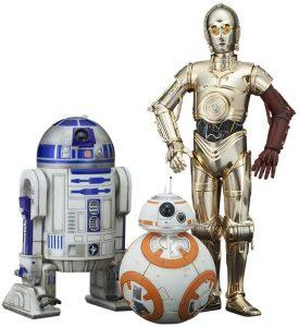 Figura de C-3PO, BB8 y R2-D2 de Star Wars de Kotobukiya - Figuras de acción y muñecos de C-3PO de Star Wars