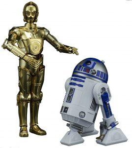 Figura de C-3PO y R2-D2 de Star Wars de Bandai - Figuras de acción y muñecos de C-3PO de Star Wars