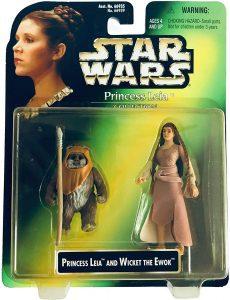 Figura de Ewok Wicket y Leia de Star Wars de Kenner - Figuras de acción y muñecos de Ewoks de Star Wars