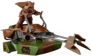 Figura de Ewok con Speeder de Star Wars de Scalextric - Figuras de acción y muñecos de Ewoks de Star Wars