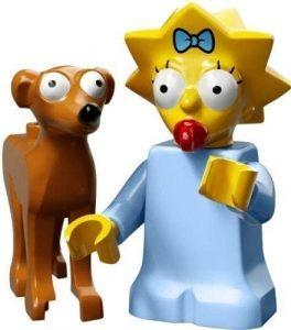 Figura de Maggie Simpson de LEGO 2 - Muñecos de Maggie Simpson de los Simpsons - Figuras de acción de los Simpsons