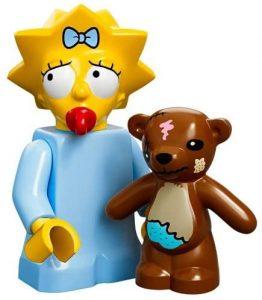 Figura de Maggie Simpson de LEGO - Muñecos de Maggie Simpson de los Simpsons - Figuras de acción de los Simpsons