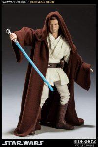 Figura de Obi-Wan Kenobi Episodio I de Star Wars de Sideshow - Figuras de acción y muñecos de Obi Wan Kenobi de Star Wars