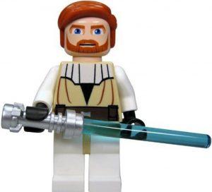 Figura de Obi-Wan Kenobi Episodio II de Star Wars de Clone Wars de Lego - Figuras de acción y muñecos de Obi Wan Kenobi de Star Wars