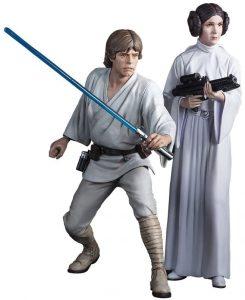 Figura de la princesa Leia y Luke Skywalker de Star Wars de Kotobukiya - Figuras de acción y muñecos de Leia Organa de Star Wars