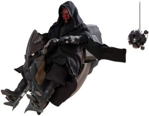Hot Toys de Darth Maul de Star Wars del Episodio I con Speeder - Figuras de acción y muñecos de Darth Maul de Star Wars